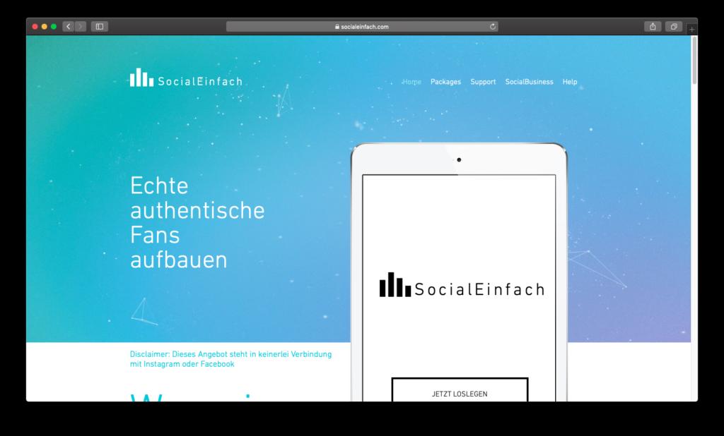 Webseite von SocialEinfach